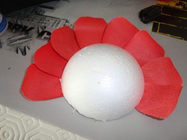 Mes creations proto fleur assiette1 - Fleur en carton ...