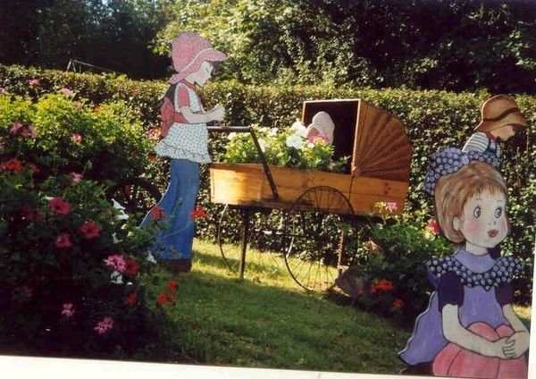 Mes creations deco jardin pinocchio for Decoration de jardin en bois