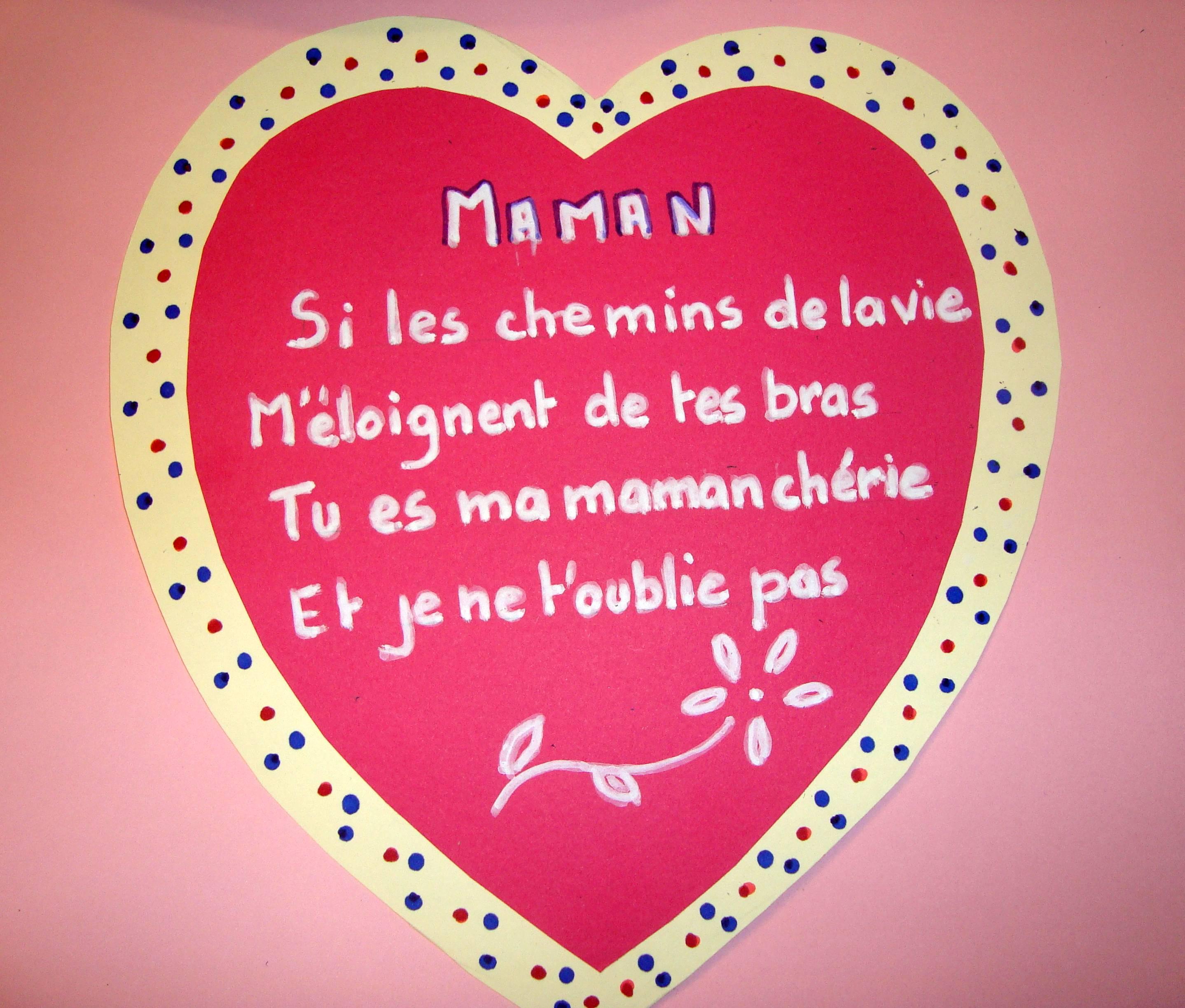 Coeur Poeme Fete Des Meres