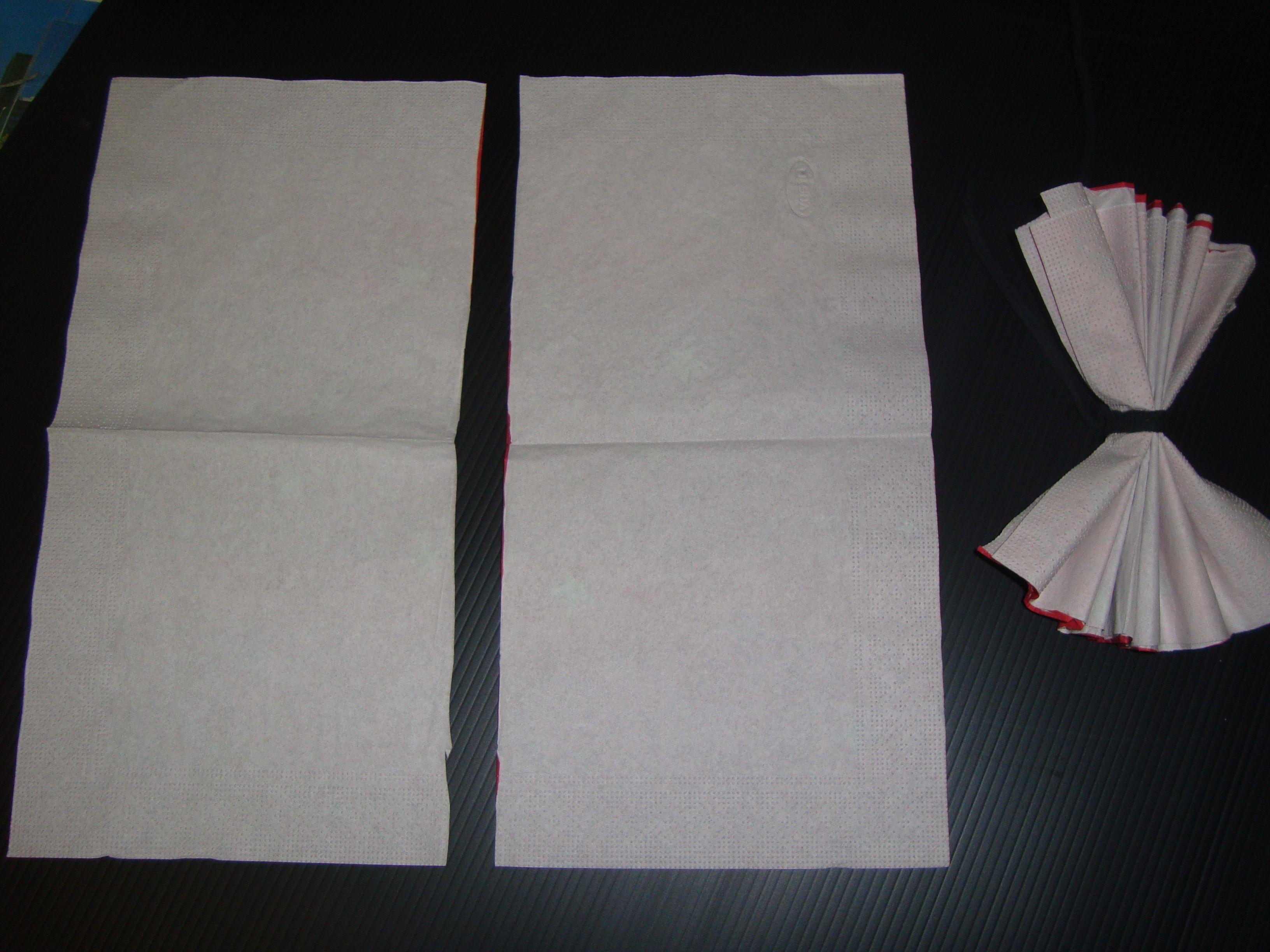 Demonstration Fleur Serviette Papier